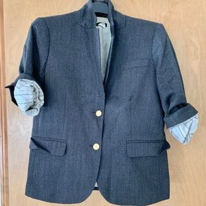 J.Crew Wool SchoolBoy Blazer, Size 12 in Gray